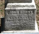 John Gorby headstone Boman Cemetery